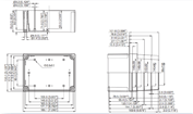 MNX PC / ABS 150XH Enclosure Schematic from Eurobox